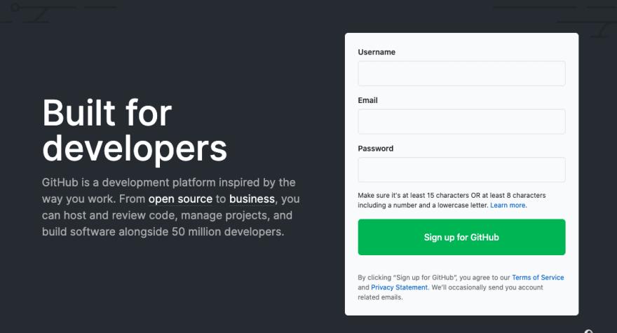 Registro de GitHub