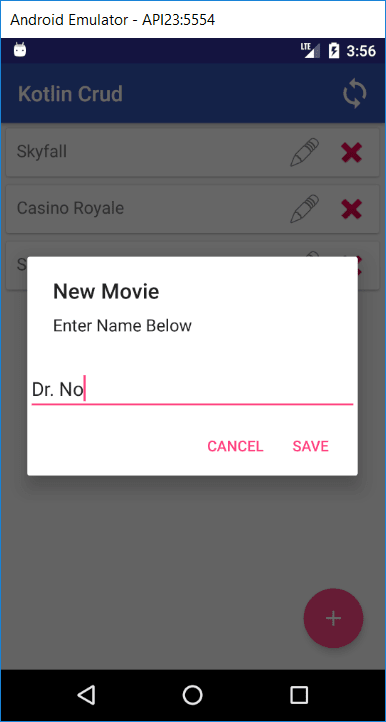 Add a movie via a new dialog