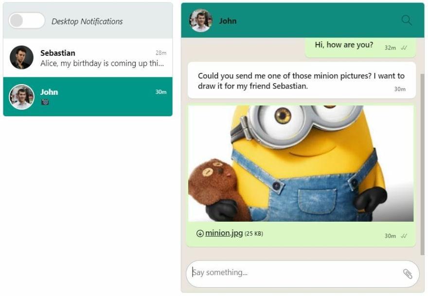 TalkJS Inbox - WhatsApp Theme Final