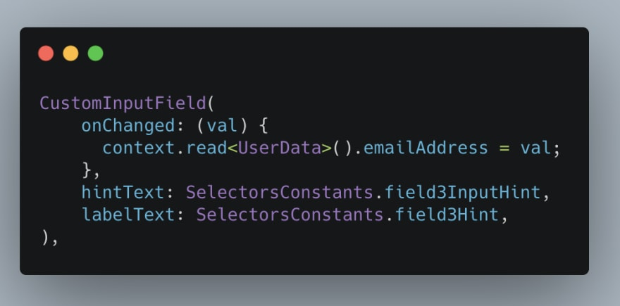 Using Selector in Provider
