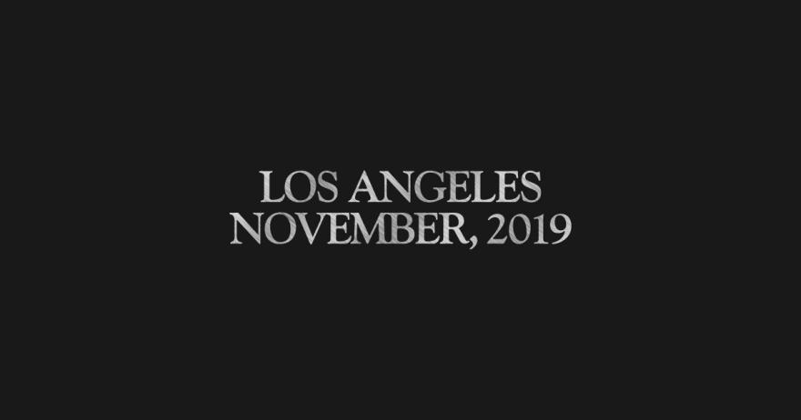 Blade Runner, November 2019