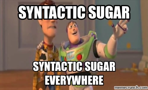 syntactic sugar toy story meme