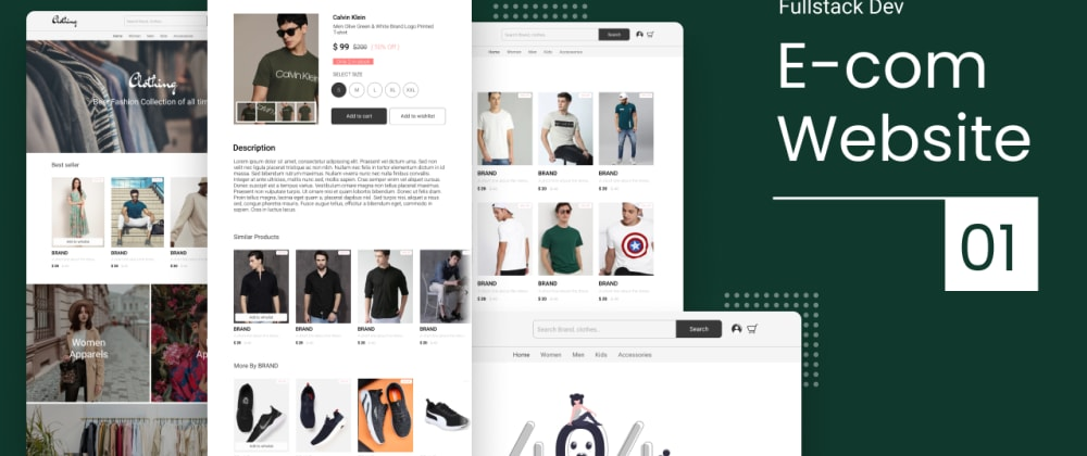 Cover image for How to make an e-commerce website with HTML, CSS and JS - 01