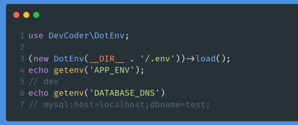 Cover image for PHP - Create your own dotenv to loads environment variables from .env file