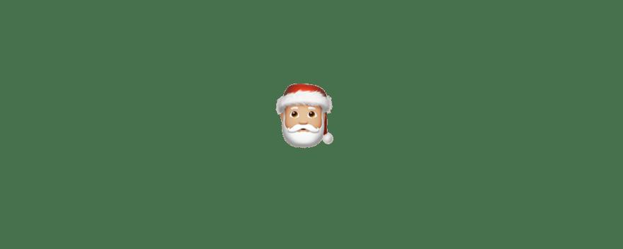 A single Santa Claus emoji