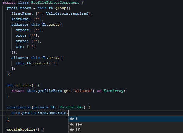 TS hint without types