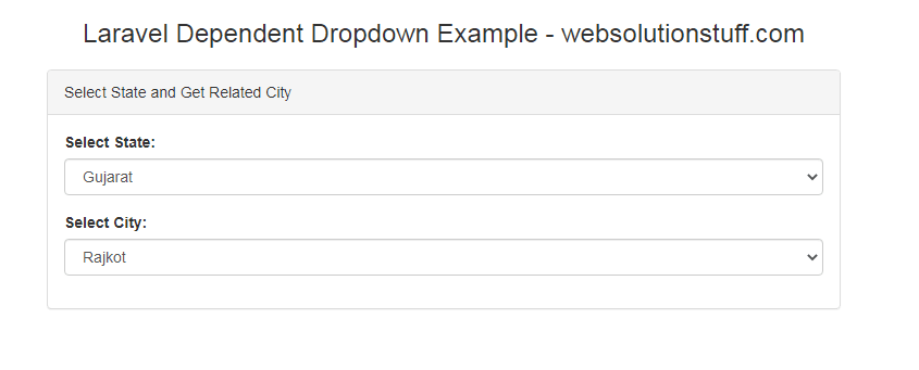 How To Create Dependent Dropdown In Laravel