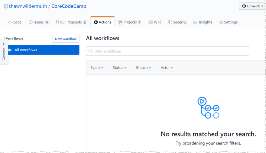 No Workflows