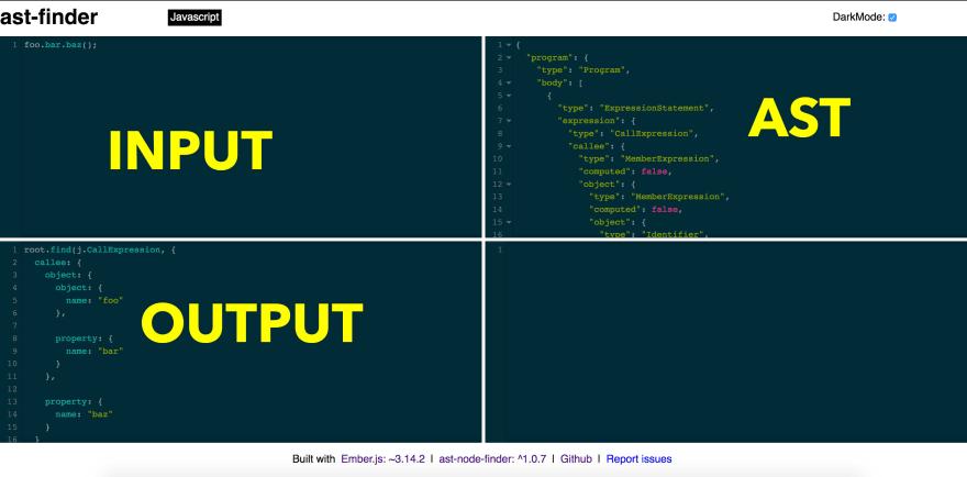AST Finder screenshot