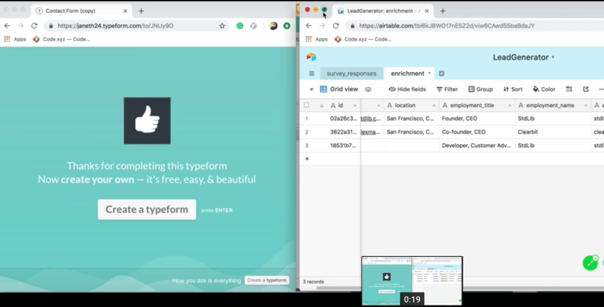 Build a Lead Generator in 5 Minutes with Typeform, Clearbit