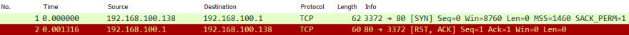 TCP connection refuse