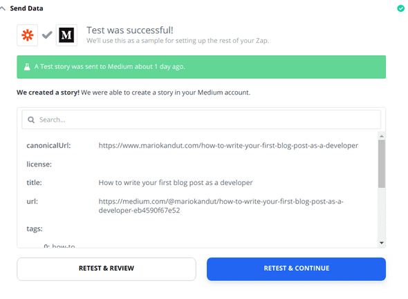 Zapier Medium Data Check