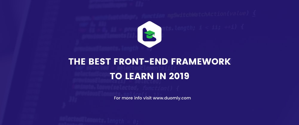 Cover image for The best front-end framework to learn in 2019