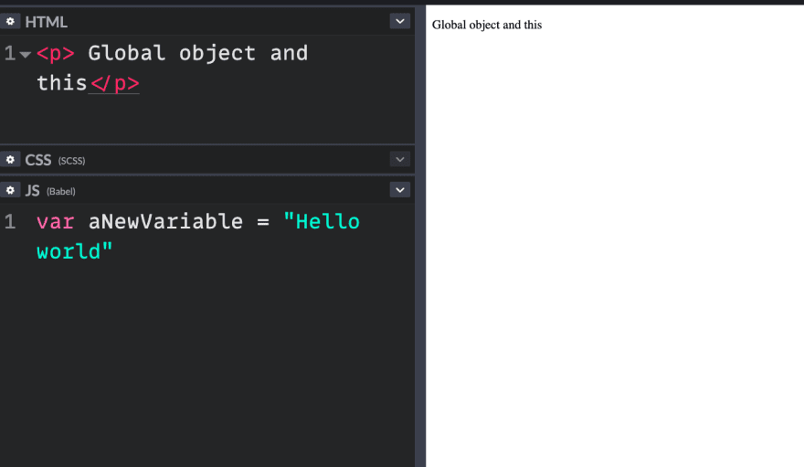 Adding a variable to my JavaScript called aNewVariable