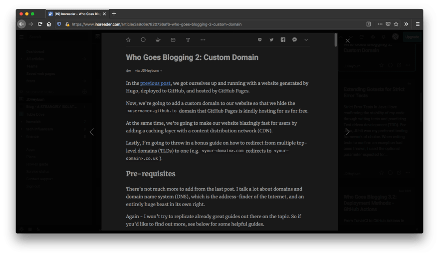 Hugo RSS post displaying all content
