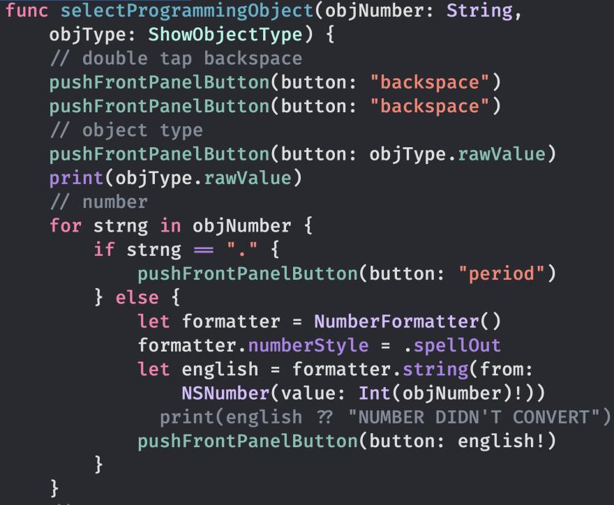Image of `selectProgrammingObject()`