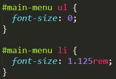 css code with font-szie prperty
