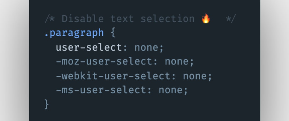 Cover image for How to disable text selection on double-click using CSS?