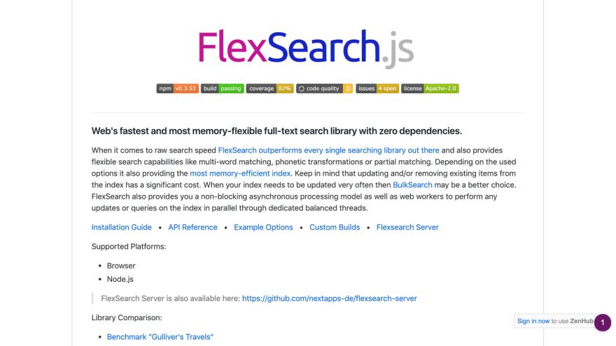 FlexSearch.js Github Repository