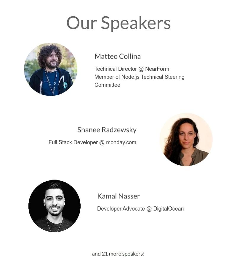 NodeTLV Israel Node.js conference speaker line-up