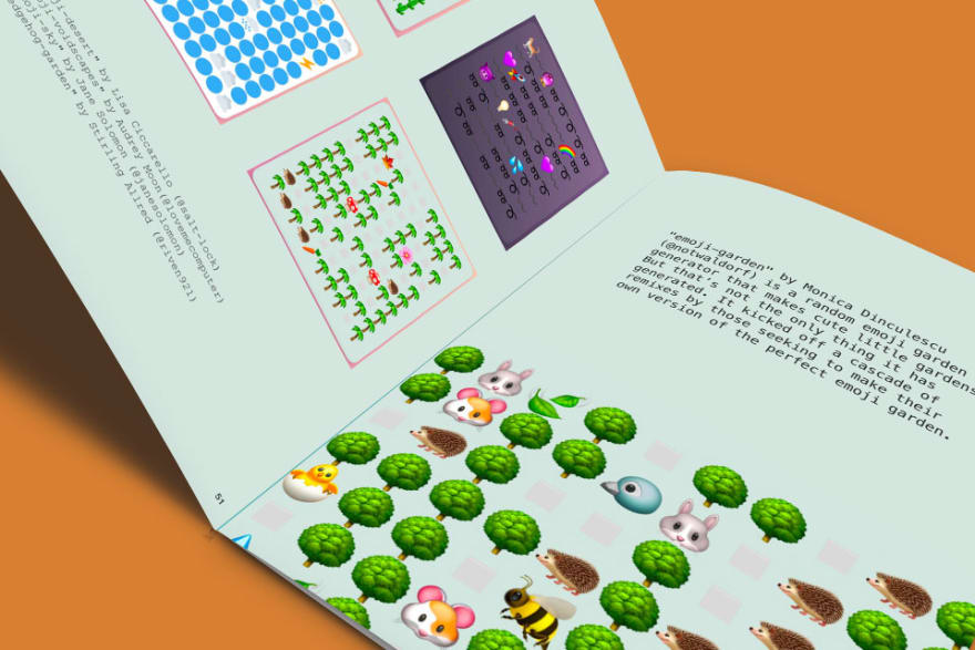 Front-end 2019 - Book showcasing projects made on Glitch.