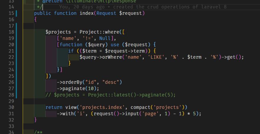 index method in controller