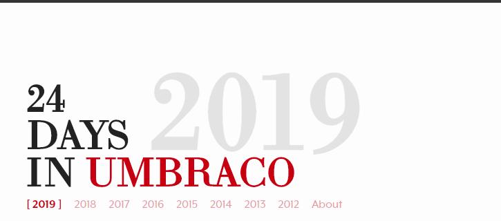 24 Days in Umbraco