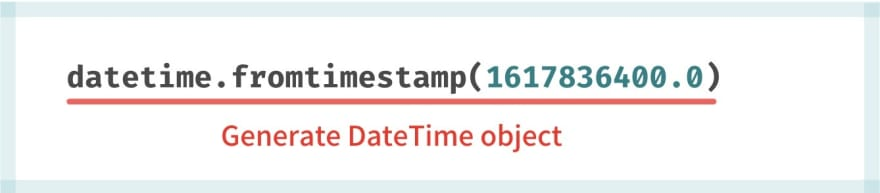timestamp to DateTime object
