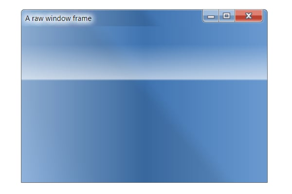 A raw Windows 7 window frame