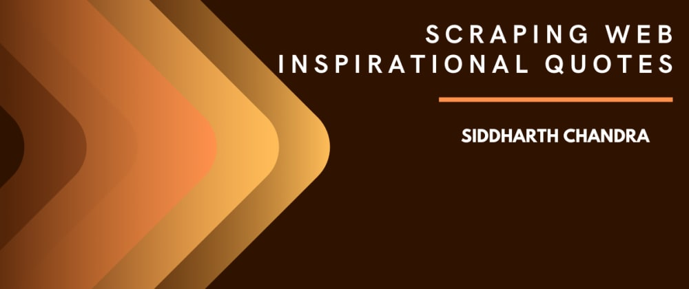Cover image for Scraping Web - Inspiring Quotes