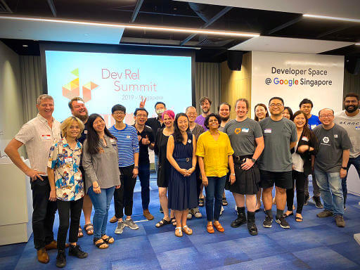 Family photo at DevRel Summit 2019