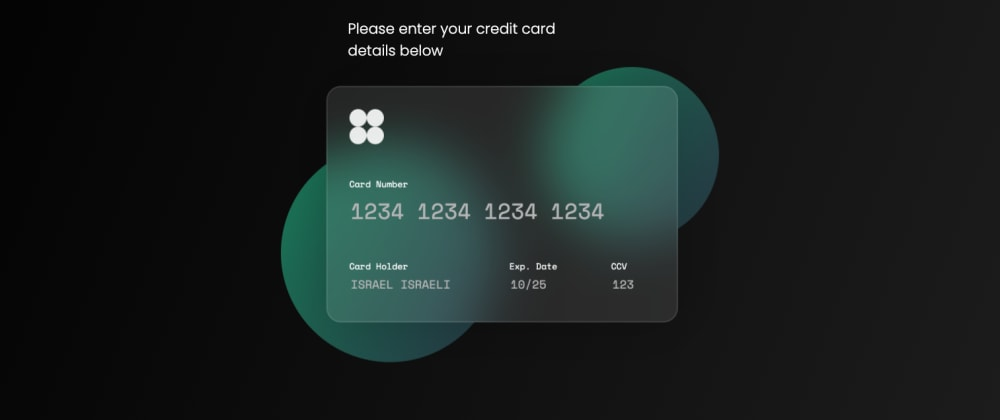 Cover image for Glassmorphism Credit Card CSS