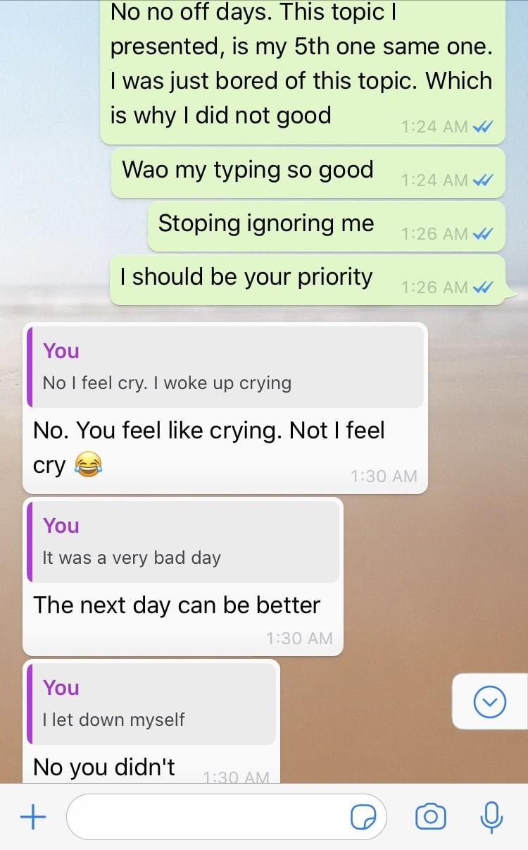 Riya asking friends for their opinions