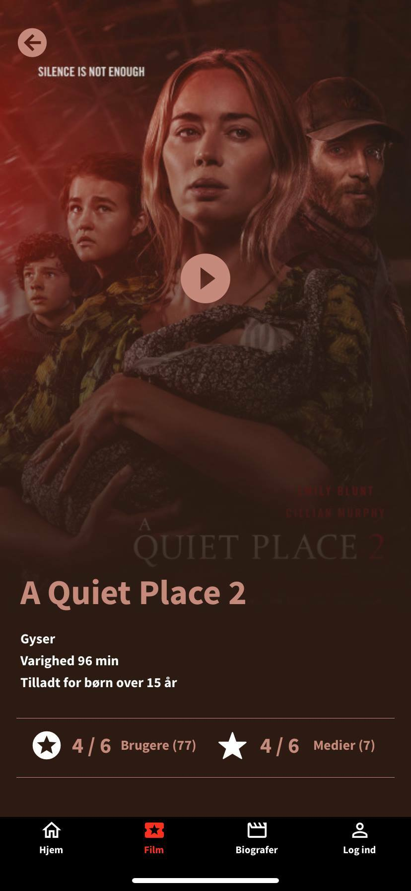 a quiet place screenshot kino app