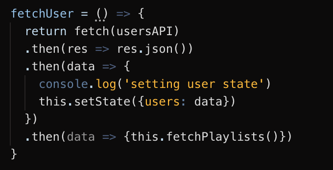 React fetch user