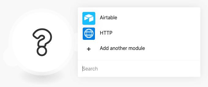 Module menu