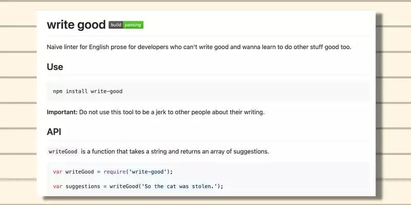 write good website