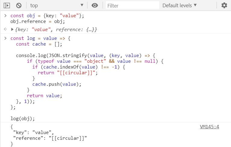 Handling JSON.stringify() with circular references
