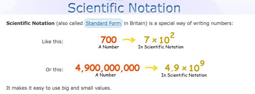 scientific notation explanation