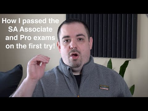How I passed the AWS Solutions Architect Associate and Professional Exams on the First Try! Video