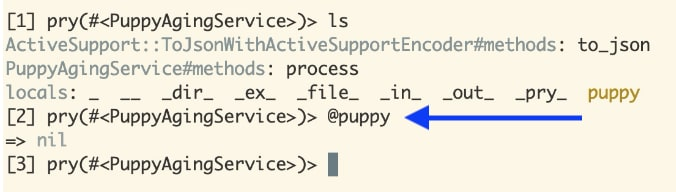 @puppy with nil output