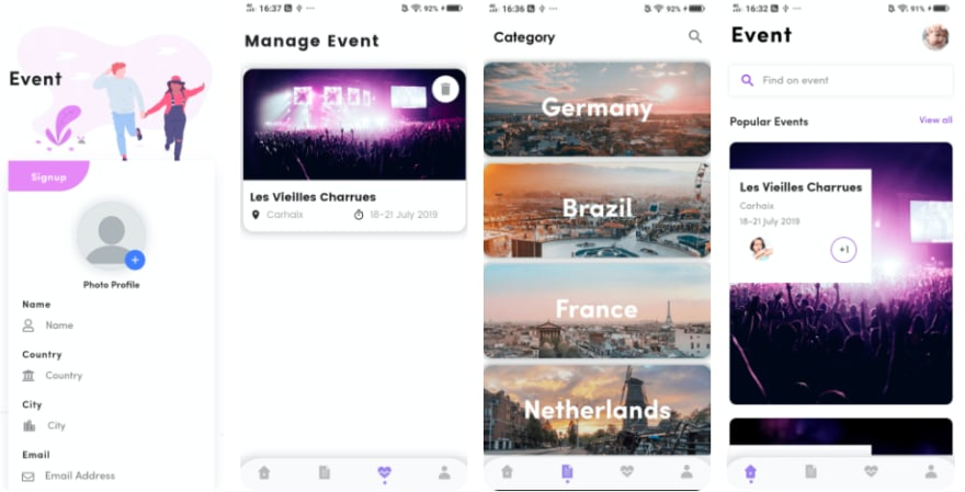 Event management flutter template