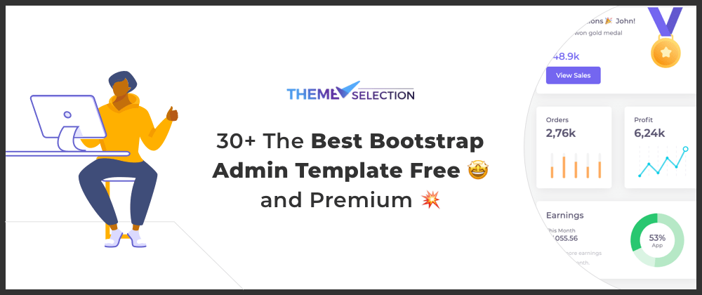 Cover image for 30+ The Best Bootstrap Admin Template Free🤩 and Premium 2021💥