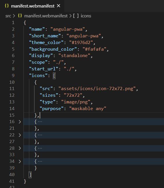 manifest.webmanifest code window