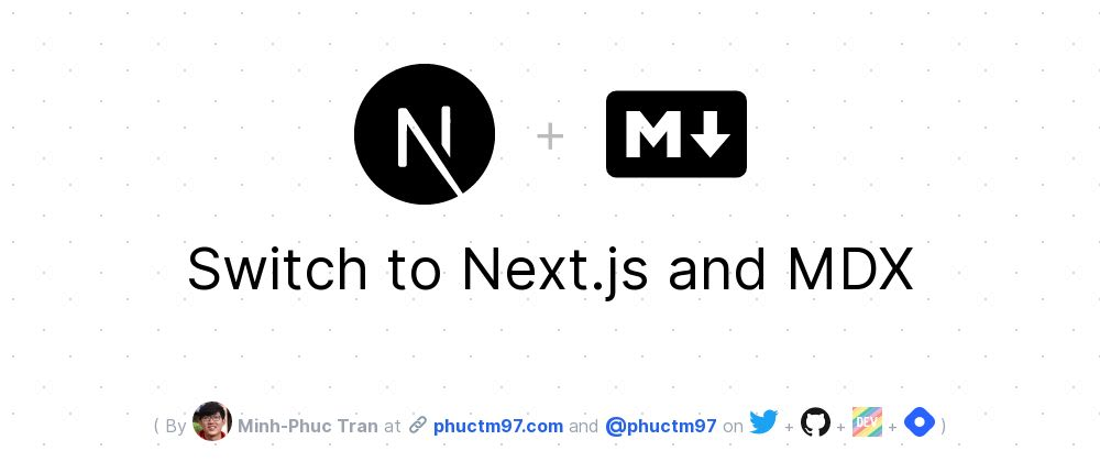 Cover image for Switch to Next.js and MDX