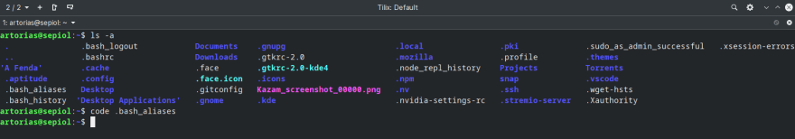 Looking for the alias file on the terminal