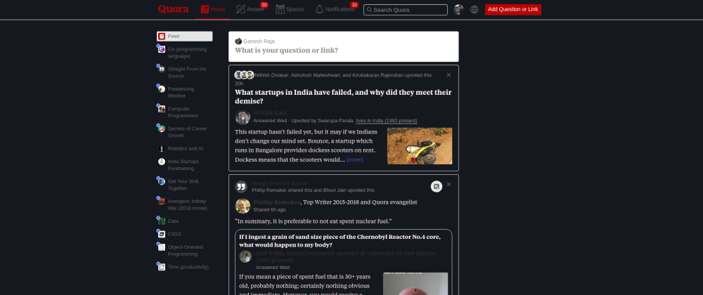Cover image for Dark Theme for Quora - Chrome Extension