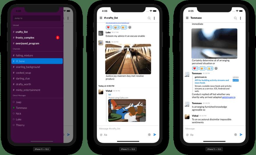 Stream Chat - Final Slack Clone - Preview