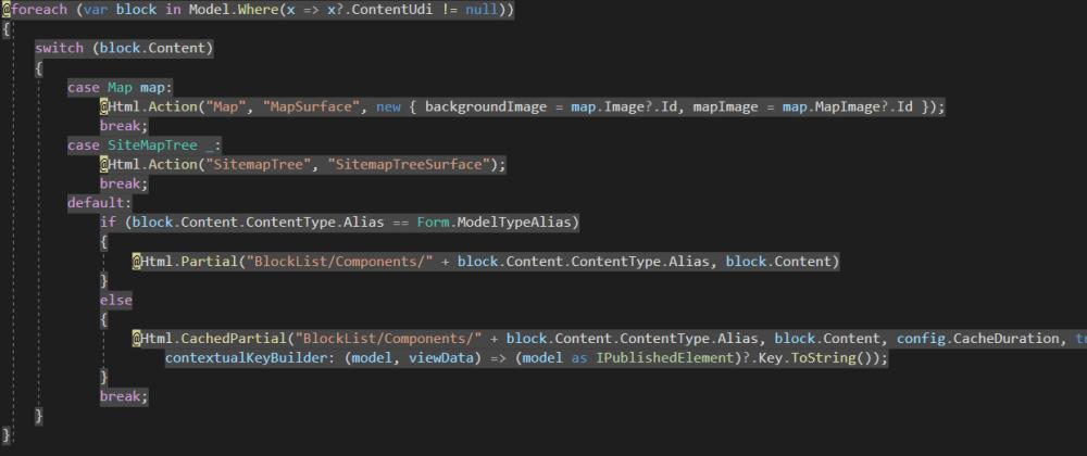 An implementation for Umbraco BlockList