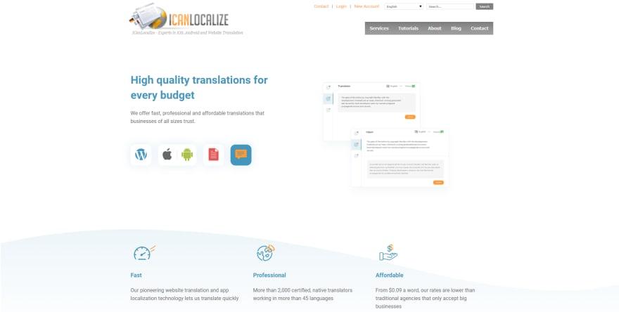 ICanLocalize.com Homepage